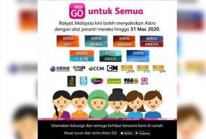Strim Astro GO tanpa henti dengan 22 saluran komplimentari untuk semua rakyat Malaysia
