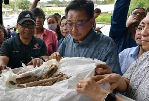 Tulang manusia prasejarah Gua Niah tiba di tanah air