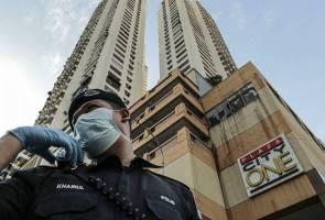 Menara City One on Jalan Munshi Abdullah under lockdown