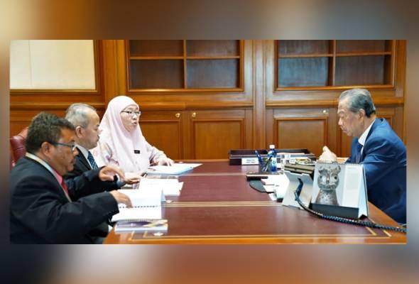 Muhyiddin bertemu KSU Kementerian Pendidikan, Kementerian Luar Negeri
