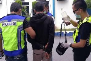 Cuba lari dari sekatan polis, lelaki ditahan bersama air ketum