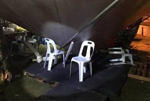 Anggota polis cedera parah di kepala, khemah sekatan jalan raya PKP runtuh