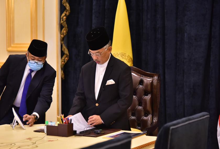 Baginda turut menzahirkan penghargaan kepada kerajaan dan pihak berkuasa di atas pelaksanaan langkah-langkah tersebut. - Foto Istana Negara