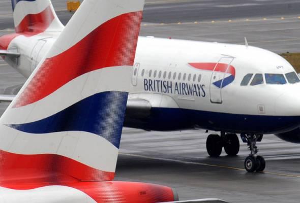 COVID-19: British Airways laksana penstrukturan semula, 12,000 bakal hilang kerja