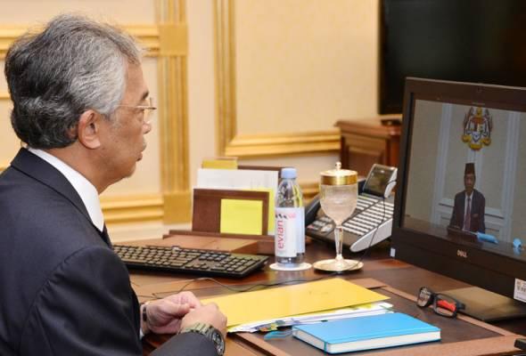 Agong, PM mesyuarat Pra-Kabinet secara sidang video