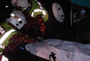 Pemandu maut dalam kemalangan empat buah lori di Lebuhraya PLUS