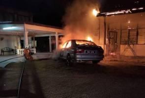 Dua rumah terbakar, nenek dan dua cucu melecur