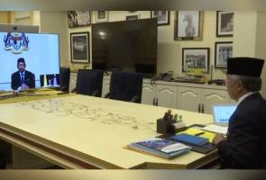 Agong holds pre-cabinet meeting with PM Muhyiddin via video conference