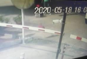 Polis siasat kes penghantar makanan wanita ditendang hingga jatuh