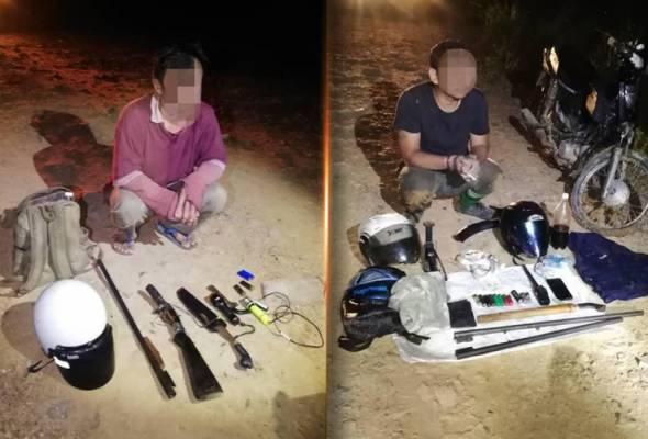 Dua lelaki tempatan pemburu haram ditahan bersama senjata api