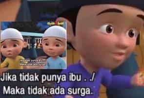 Fizi 'is cancelled' oleh peminat Upin Ipin Indonesia gara-gara dialog 'kalau tak ada ibu, tak adalah syurga'!
