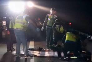 Remaja maut, rakan cedera dalam nahas motosikal di Lebuhraya Senai-Desaru