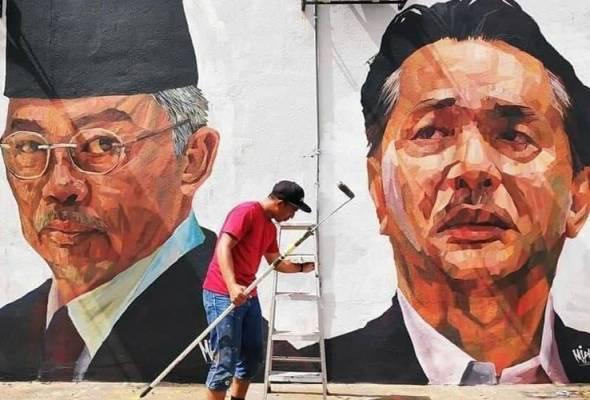 Dahulu dinding vandalisme, kini 'pameran' mural wajah wira negara