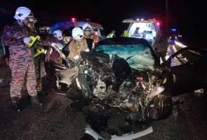 Tiga sahabat maut dalam nahas kereta, treler