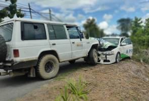 Dua polis cedera, penyeludup ketum rempuh kereta pengiring Menteri Pelancongan
