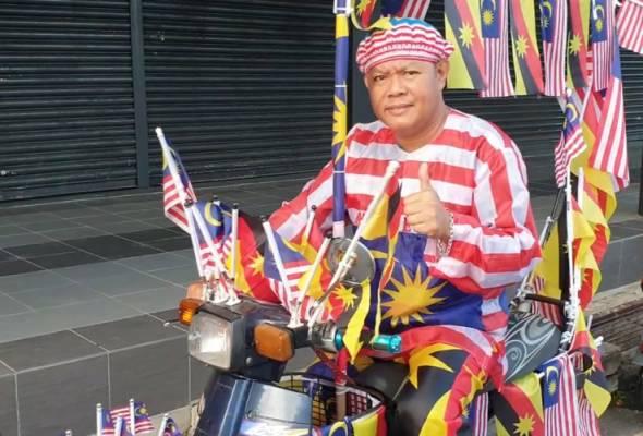 Cara 'Si Lelaki Bendera' pamer cinta pada negara