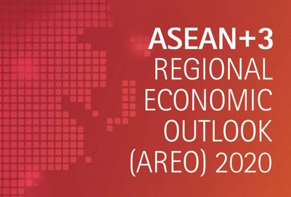 Pertumbuhan ekonomi serantau dijangka tumbuh perlahan kepada 0.1 peratus daripada 4.8 peratus pada 2019 sebelum kembali kukuh kepada 6.0 peratus pada 2021. - Foto Laporan AMRO   Astro Awani