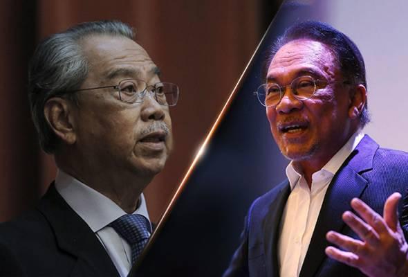 Anwar dakwa cukup sokongan, Muhyiddin seru rakyat tolak politik buta tuli