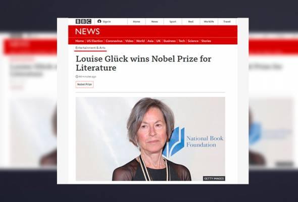 Louise Gluck menang Hadiah Nobel Kesusasteraan 2020