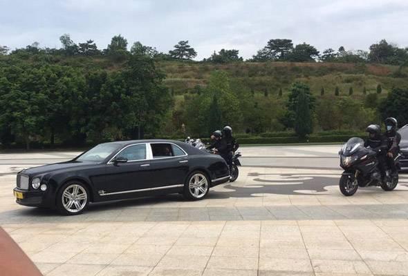 Agong tiba di Istana Negara