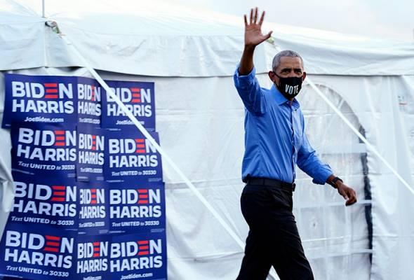 Obama gesa Demokrat keluar beramai-ramai undi Biden