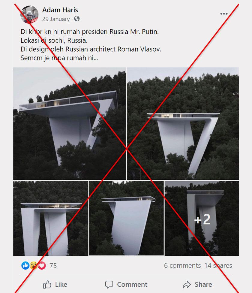 Tangkapan skrin catatan Facebook yang mengelirukan, diambil pada 14 April 2021. - Foto AFP