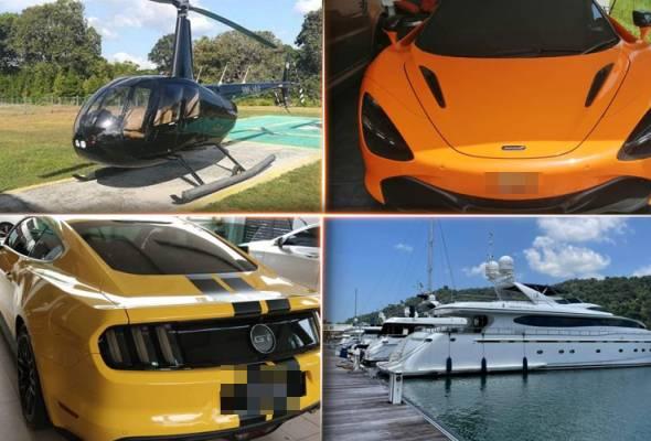 Kartel projek: Helikopter, kereta dan kapal mewah bernilai RM15.7 juta disita