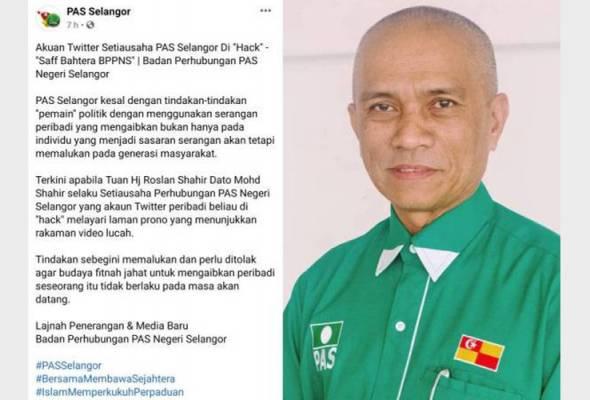 Pas Selangor dakwa akaun Twitter Roslan Shahir digodam