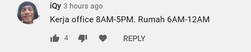 Pengguna YouTube memberitahu, tempoh waktu bekerjanya menjadi panjang sejak BDR