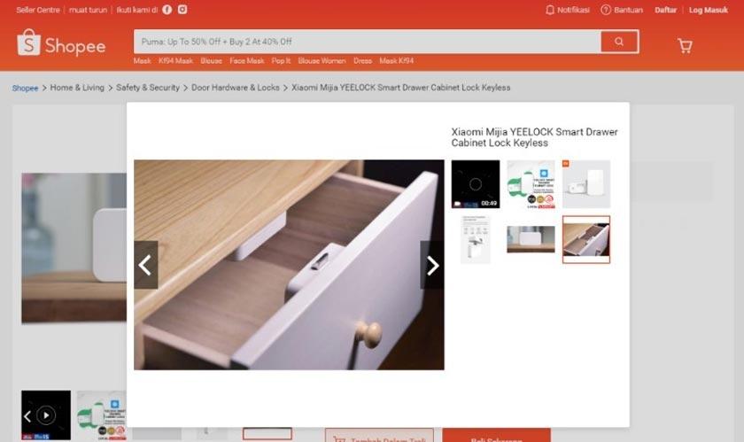 Menariknya tentang kunci laci kabinet pintar ini, ia menggunakan peranti pintar anda sebagai kunci.