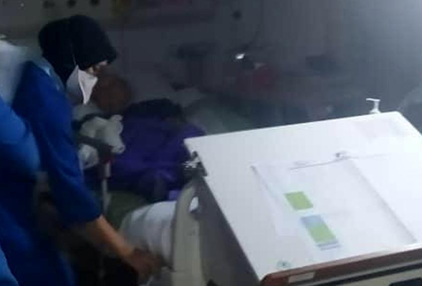 Kebakaran melibatkan dua bilik wad dan telah dikosongkan. - Foto ihsan JBPM Selangor