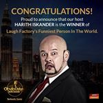 Yes. What you heard is true. Big congratulations to our host, @harithiskander! Obviously, the funniest person in the world! 👏🏻👏🏻👏🏻 #ohi #harithiskander #obviouslyharith #comedy #laughfactory #standupcomedian