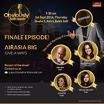 The bragging right of &quotI was on Obviously Harith Iskander season finale&quot y'all. Secure your seats now!